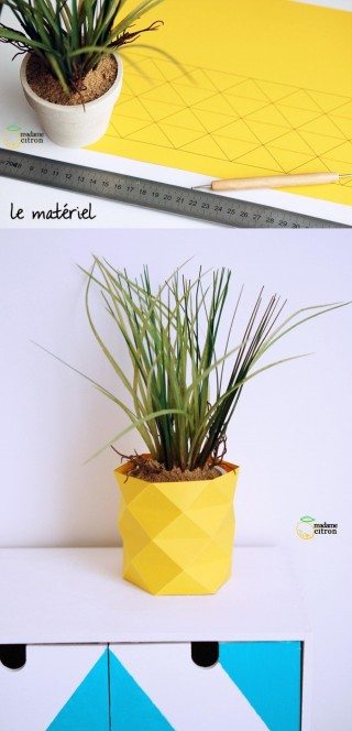 decorar maceta origami DIY muy ingenioso 1