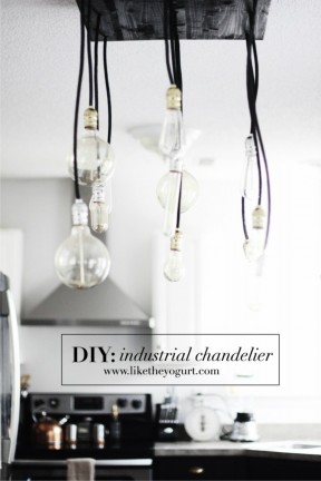 Lámpara DIY con aspecto industrial