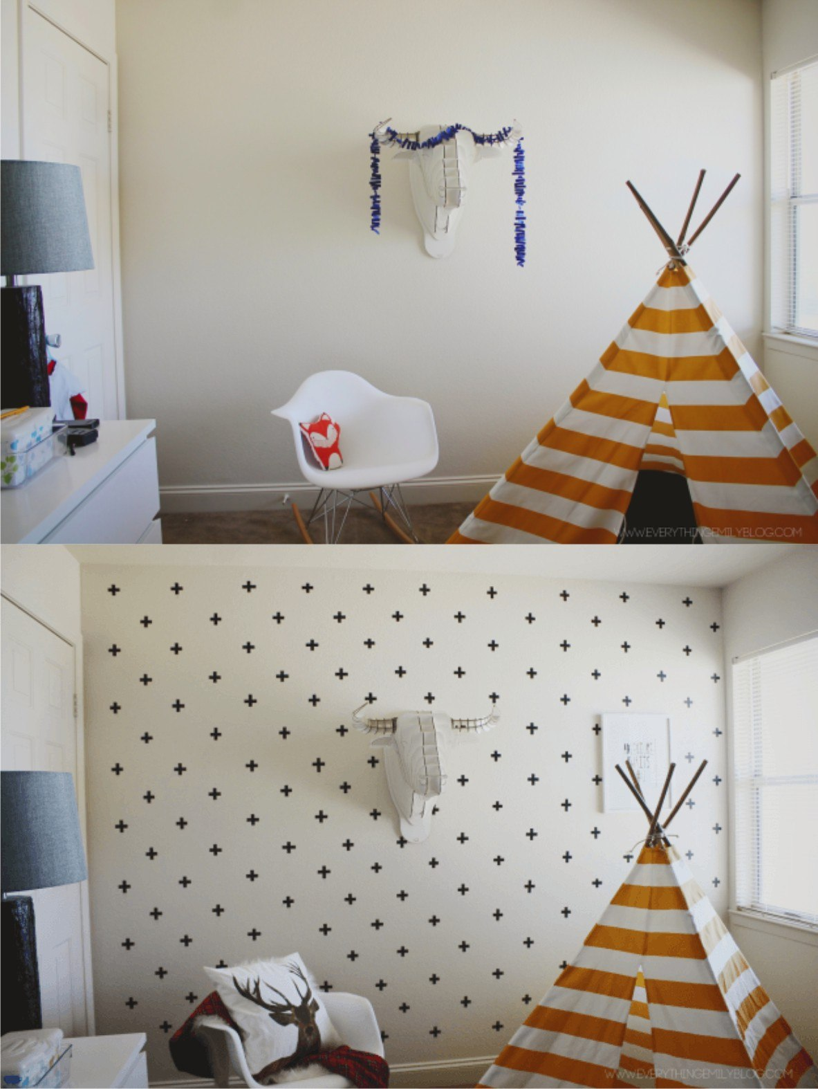 Ingenioso wallart con washi tape
