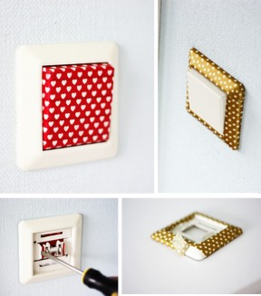 Decorar interruptores con washi-tape