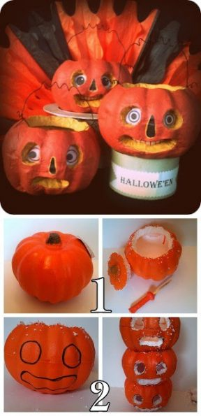 Ingeniosa  calabaza reciclable para halloween