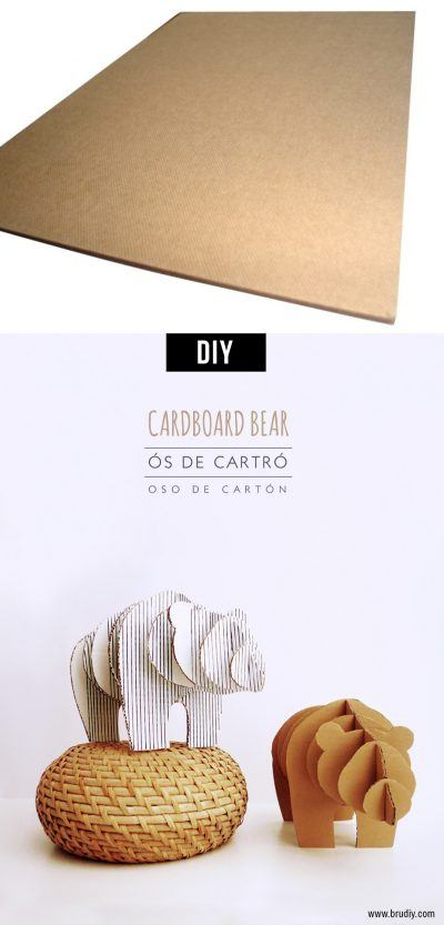 Ositos de cartón. Tutorial