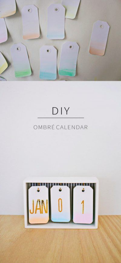 Ingenioso calendario DIY