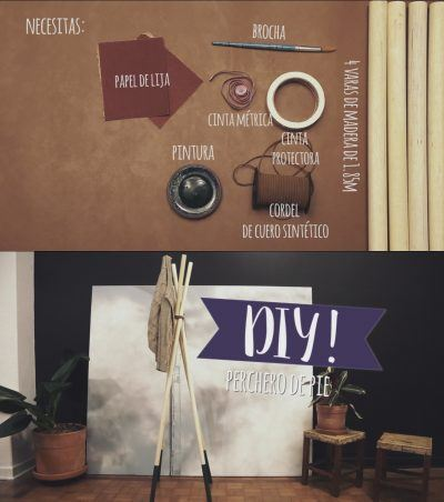 Sencillo  DIY: Perchero de pie chic y moderno