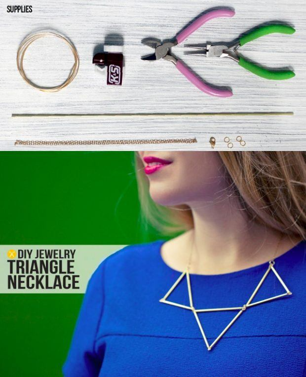 Collar triangular DIY