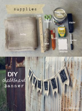 Banderas decorativas DIY